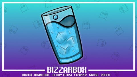 Twitch Emote: Hydrate Glass of Water