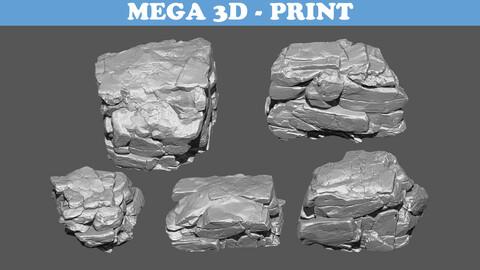 Rock 3D Model Pack B 3D print model