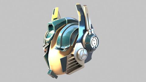 Bluish Tech Helmet