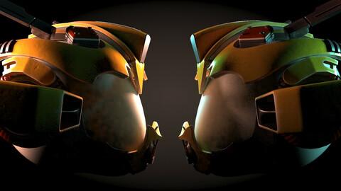 Yellowish Tech Helmet