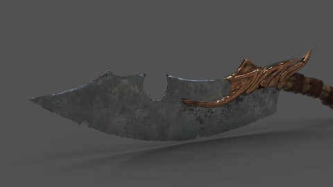 Old Pirate Sword Low-poly 3D model