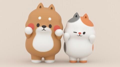 Yuta and Bella - Tonton Friends Fan Art - 3D Print Models