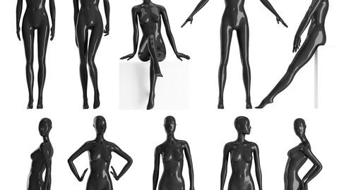 Set of female Mannequins 9 pozes