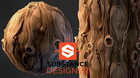Stylized Tree Bark - Substance Designer