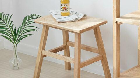 Mine Solid Wood Stool Chair Acacia Wood
