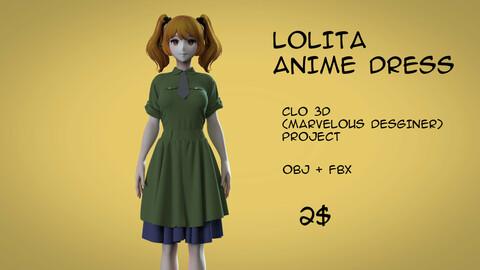 Lolita anime dress