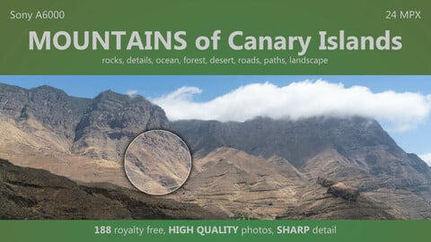 MOUNTAINS of The Canary Islands - 188 HIGH QUALITY photos, up to 42 MPX