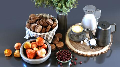 Decoration of breakfast set 026
