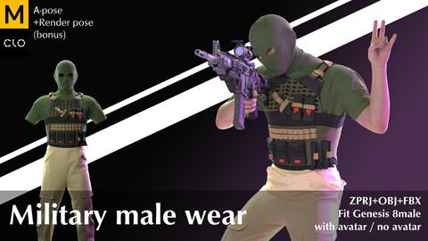Military male wear