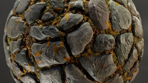 PBR - POLISHED ROCKY GROUND, VIDEO GAME STYLE - 4K MATERIAL