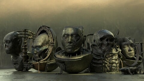 Vintage Scifi Pack VOl 2 Android Mummies