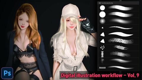 Digital illustration workflow - Vol.9