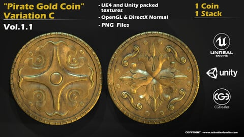 Pirate Gold Coin and Stack - Variant C