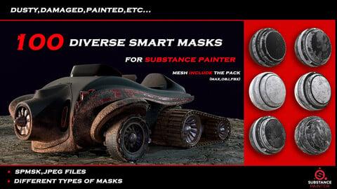 100 diverse smart masks for substance painter