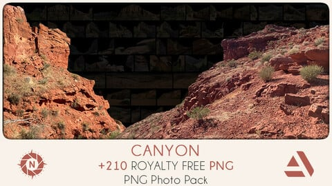PNG Photo Pack: Canyon + original photos
