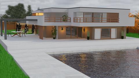 Дизайн екстер'єру заміського будинку