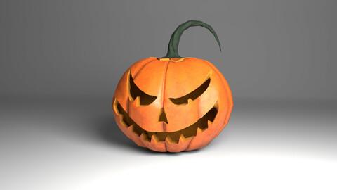 The Halloween pumpkin Low-poly