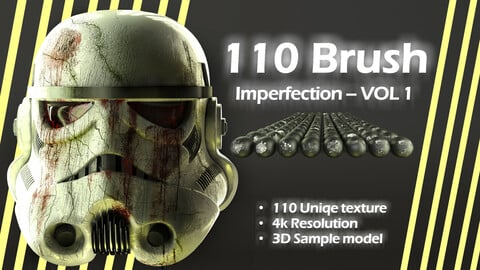 110 Brush Imperfection - VOL 1 + 3D model