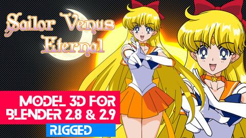 Sailor Venus Eternal - Sailor Moon Anime Model 3D