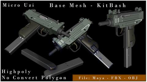Micro Uzi Gun - KitBash