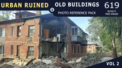 Urban Ruined & Old Buildings - Vol 2 - Reference Pack