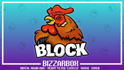 Twitch Emote: Cock Block Rooster