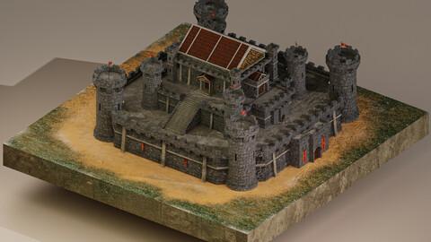 Medieval Castle Level 15 3D Model