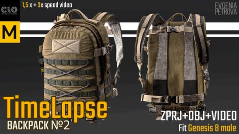 Time Lapse BACKPACK. MD CLo3d  PROJECT+OBJ