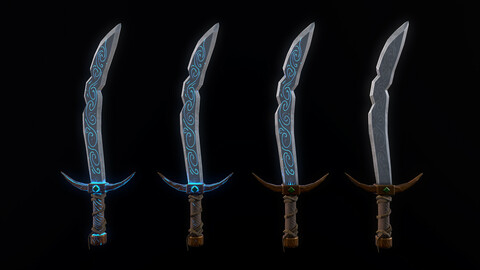 Stylized Falchion Sword