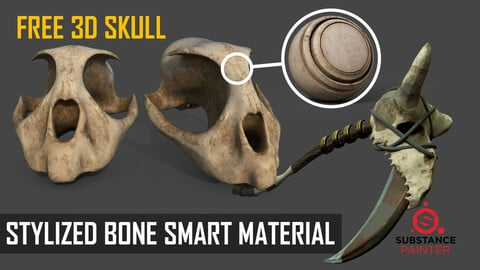 Stylized Bone Smart Material for Substance Painter