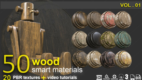 wood materials pack