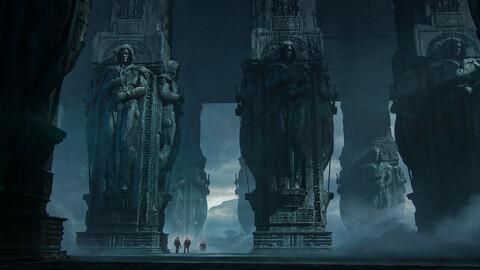 Ruins of an ancient civilization (.blend .PSD).