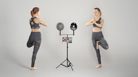 Sporty woman doing yoga routine 294