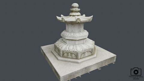 stone pagoda_0001_OBJ(Photogrametry.Photoscan.obj,Photo)