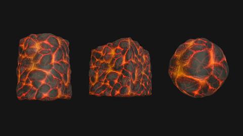 Stylized Lava1 PBR Texture
