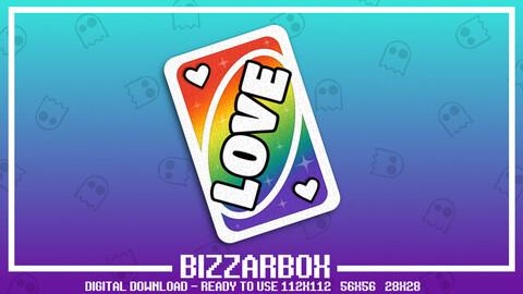 Twitch Emote: Love Card