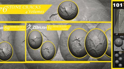 Stone Cracks Brushes 4  Volumes