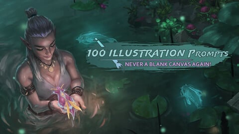100 Illustration Prompts - Never  A Blank Canvas Again!