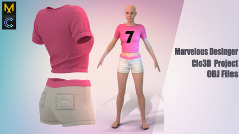 Cheerleader  Marvelous Desinger,Clo3d project + OBJ file