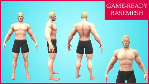 Rognek: Cartoon Basemesh Male Character- Rigged