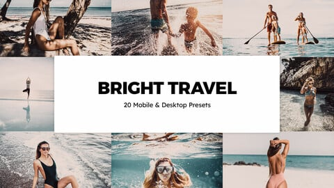20 Bright Travel LUTs and Lightroom Presets