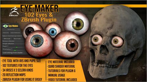 Eye Maker: 102 Eyes and ZBrush Plugin
