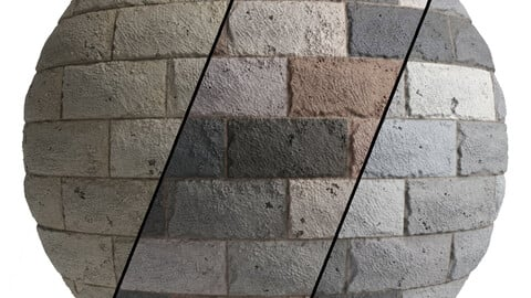 Ston Wall Material 7- By 3 Color, Pbr By Sbsar, 4k