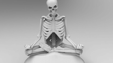 Skeleton Meditating