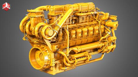 3516C HD Engine - V16 Industrial Diesel Engine
