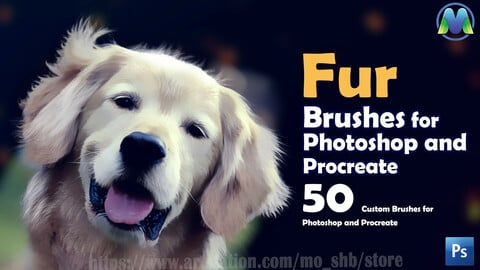 50 Fur brushes for Photoshop and procreate