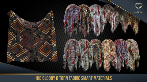 100 Torn and Bloody Fabric Smart Materials