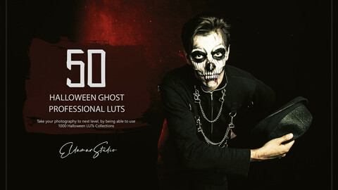 50 Halloween Ghost LUTs and Presets Pack