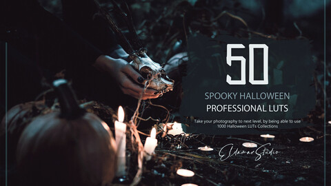 50 Spooky Halloween LUTs and Presets Pack