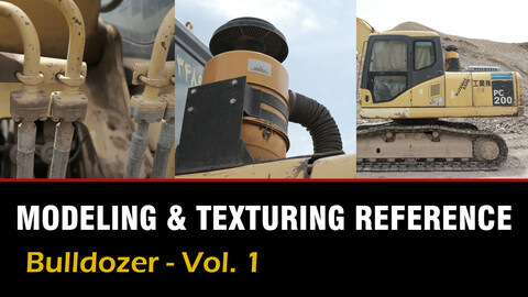 """"""" Modeling & Texturing Reference """"  Bulldozer - Vol. 1"""